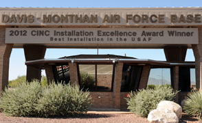 Davis-Monthan main gate focus large