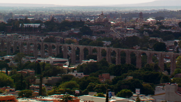 The aqueduct in Queretaro Mexico