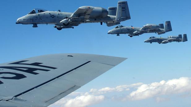A-10 squadron in flight spotlight