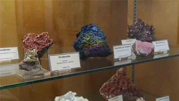 Mark Candy, collections manager at the University of Arizona Mineral Museum, gives insight and history of the Mineral Museum.