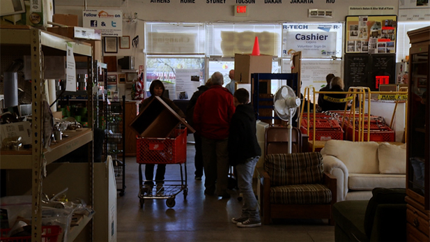 Shoppers pay a visit to The HabiStore. It's a thrift store operated by Habitat for Humanity.