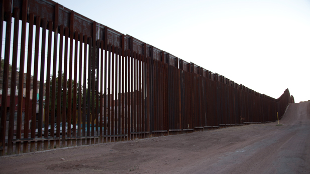 The fence separating the U.S. from Mexico in Nogales, Ariz.