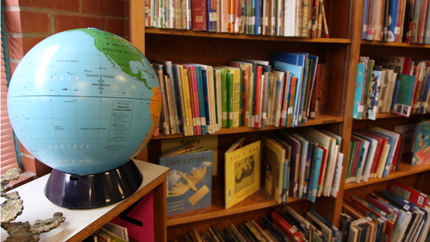 education school library spotlight