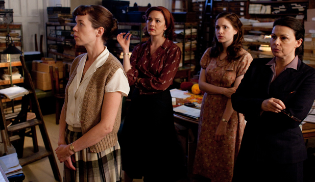 Shown from L-R: Anna Maxwell Martin as Susan (front), Rachael Stirling as Millie, Sophie Rundle as Lucy, Julie Graham as Jean