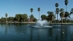 The fountain at Reid Park is one of the many beautiful water features around Tucson.