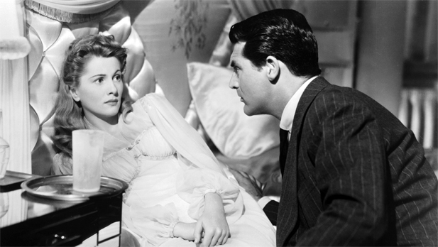 Joan Fonataine and Cary Grant