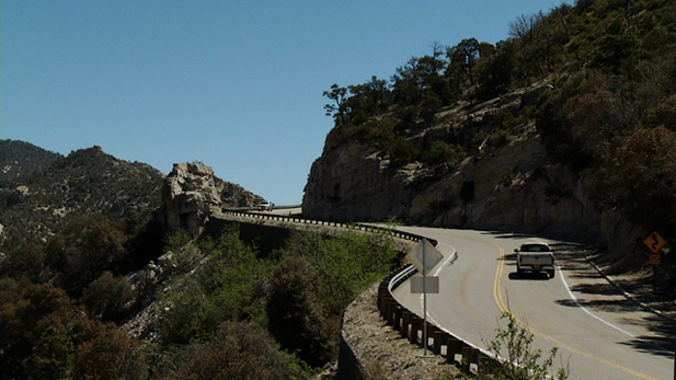 "Visitors travel up and down Mt. Lemmon highway which leads to the top of this popular ""sky island"", one of many in Southern Arizona."