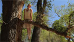 "A girl portrays a Western Yellow-Billed Cuckoo for the dance film ""Rosemont Ours."""