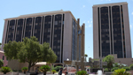 Pima County administration and court buildings in downtown Tucson.