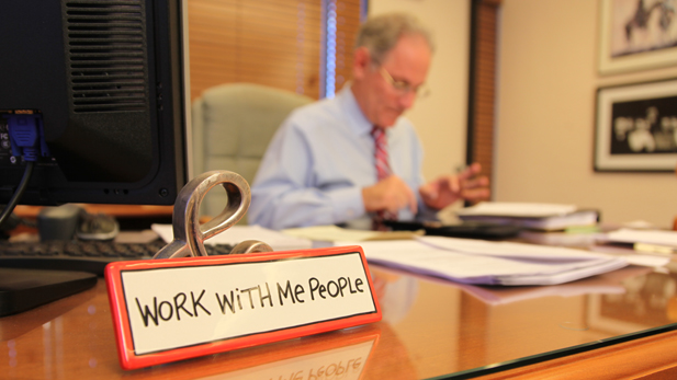 Tucson Mayor Jonathan Rothschild works in his office at city hall.