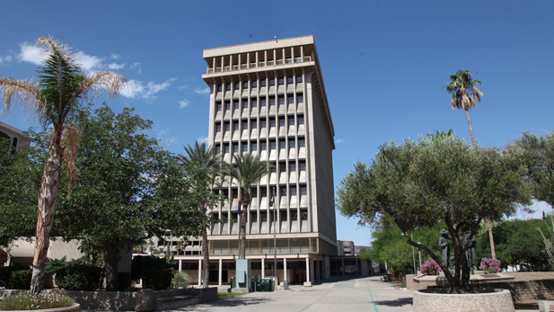 Tucson City Hall spotlight