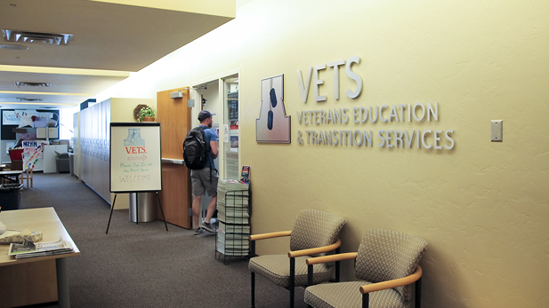The Veterans Education and Transition Services (VETS) center on the fourth floor of the University of Arizona Student Union provides student veterans with a study space and resources to help navigate civilian life.