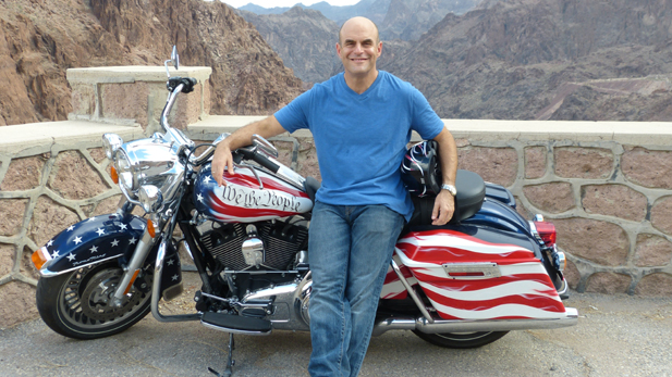 "Peter Sagal, host of NPR's ""Wait, Wait … Don't Tell Me,"" travels cross-country on a customized Harley-Davidson to find out what the Constitution means in the 21st century."