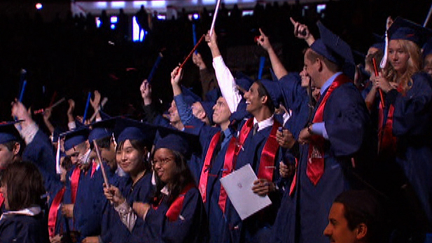 Students celebrate their achievements at a University of Arizona graduation ceremony.