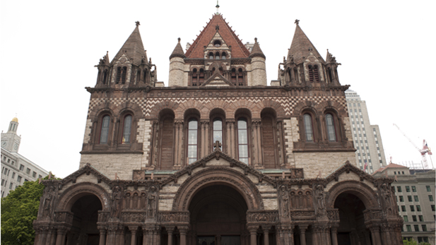 Created by architect H.H. Richardson, Trinity was the first example of the Richardsonian Romanesque style, which was later used in churches, city halls and county courthouses across America