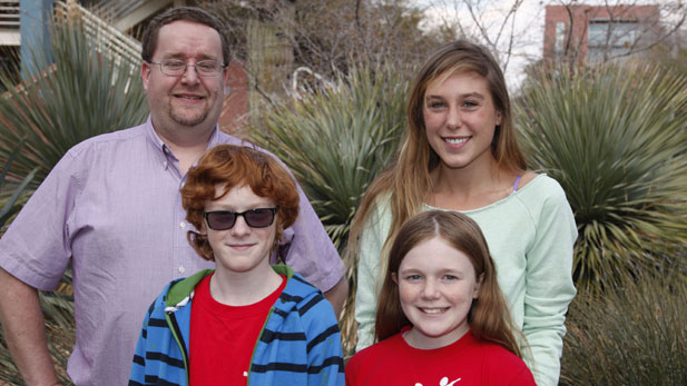"""""""Littles"""" Stone and Marianna with their """"Bigs"""" Randy and Hannah"""
