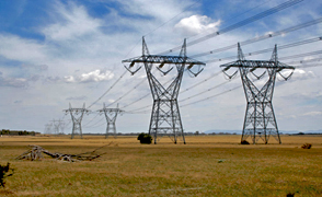 A pair of 500-kilovolt transmission lines in Australia