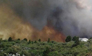 The Yarnell Hill Fire burning in northeastern Arizona.