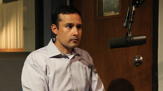 H.T. Sanchez, TUSD's new superintendent inside the Arizona Public Media radio studios.