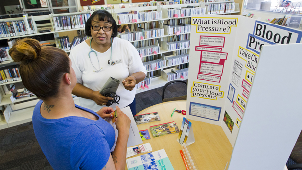 Pima County Public Library has nurses at 11 of its 23 branches.