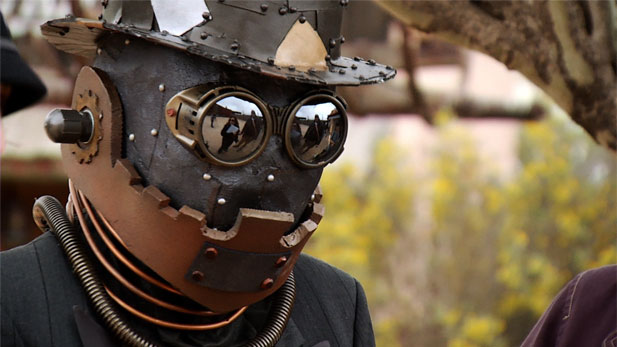 Steampunk enthusiasts visit Old Tucson Studios during a statewide gathering.