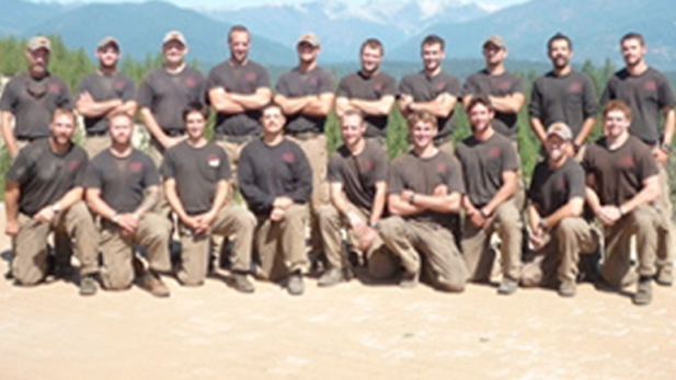 The Granite Mountain Hotshot crew. Nineteen crew members were killed June 30, 2013, fighting the Yarnell Hill Fire.