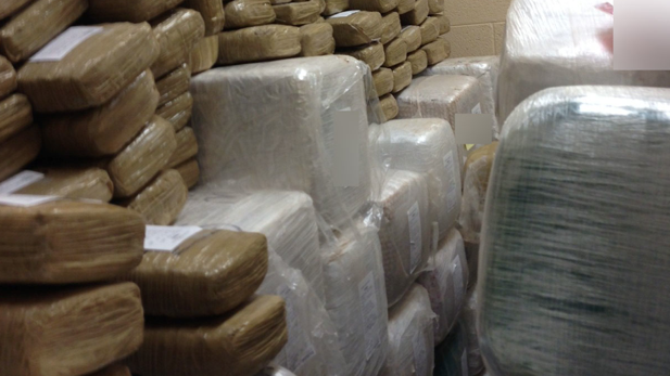 U.S. Customs and Border Protection marijuana seizure on July 7, 2013, near Naco, Ariz.