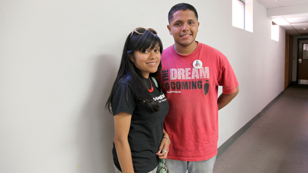 "Lizbeth Mateo and Luis Leon are part of the ""Dream 9"" asking for asylum in the U.S."