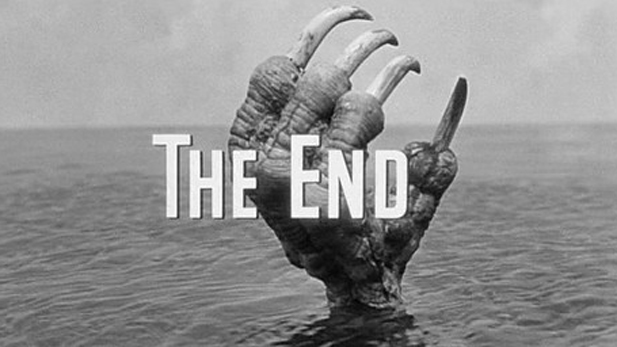 "The memorable final shot from the 1957 drive-in favorite ""The Giant Claw"""