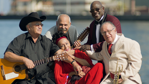 The Orquesta Buena Vista Social Club, featuring Eliades Ochoa on guitar and vocals