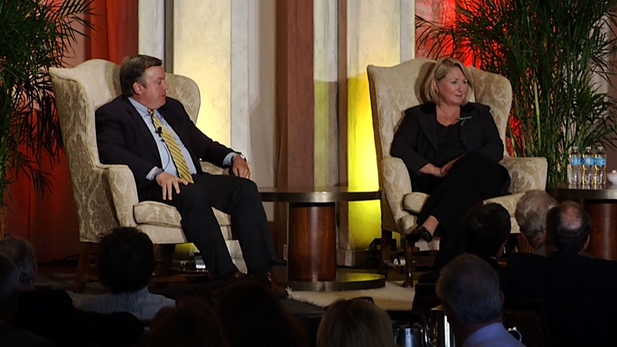University of Arizona President Ann Weaver Hart and Arizona State University president Michael Crow.