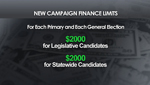 A chart showing the new Arizona campaign finance limits.
