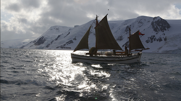 The Alexandra Shackleton in the southern ocean.
