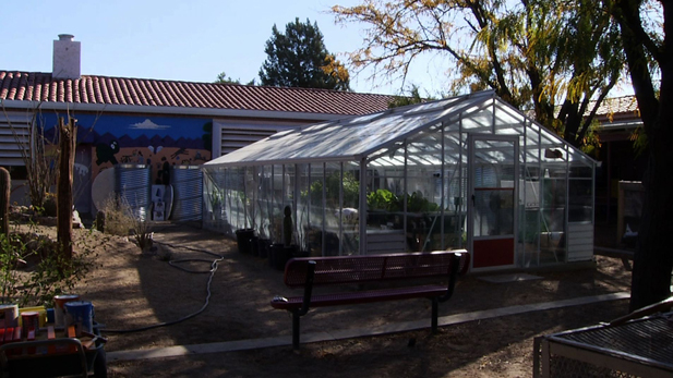 The greenhouse at Manzo Elementary serves as an invaluable tool to teach students about the importance of math, science, agriculture, and sustainability.