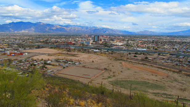 Overlooking the Tucson metropolitan area.