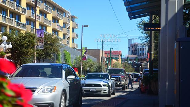 Traffic on Congress Street.