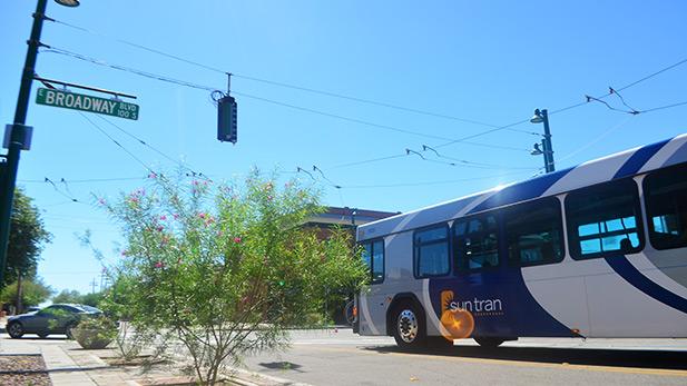Public transportation, bus, Sun Tran SPOT