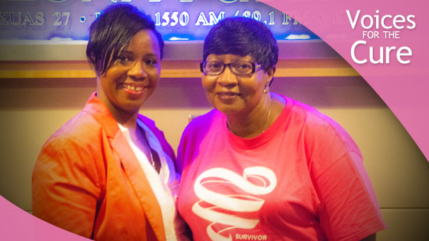 LaTrice Jordan and her aunt Carolyn Green visit the AZPM Studios.
