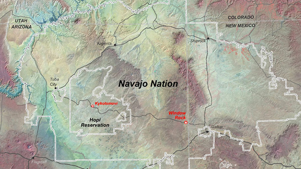 Navajo Nation map SPOT