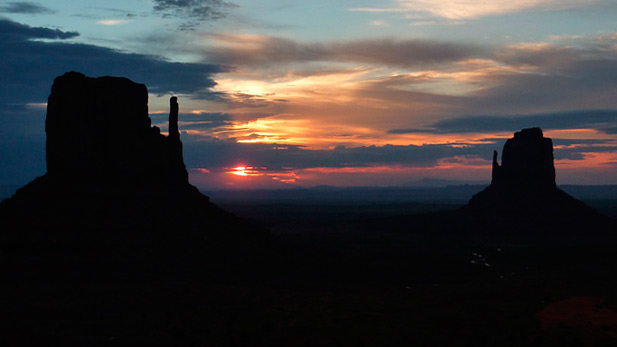 Sunset at Monument Valley, Arizona