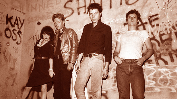 Singer Exene Cervanka, guitarist Billy Zoom, bassist & singer John Doe and drummer DJ Bonebrake - the founding members of X.