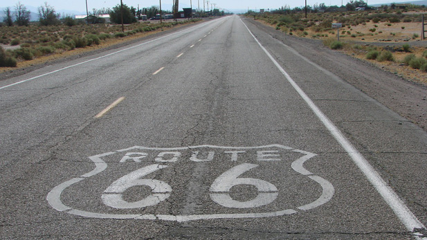 World famous Route 66.