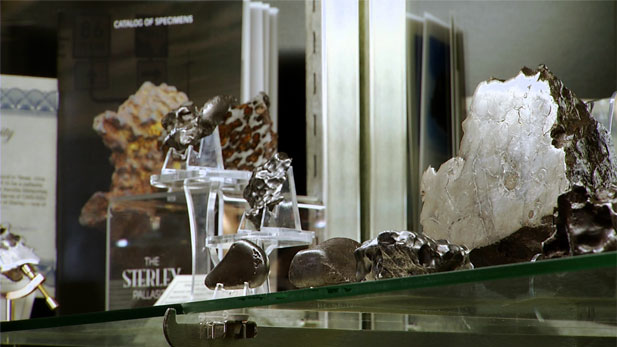 Meteor Rocks On Shelf Spot