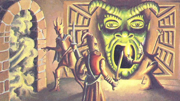 "Artwork form a Dungeons & Dragons supplement called ""The Tomb of Horrors"""