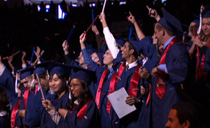 UA students graduating large