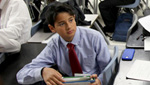 Student from Challenger Middle School practices for We The People National Competition