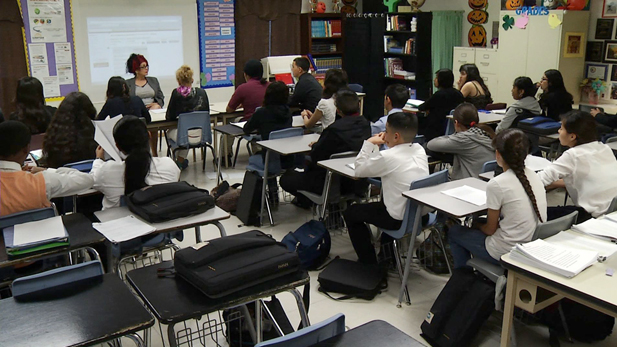 Students in Challenger Middle School.