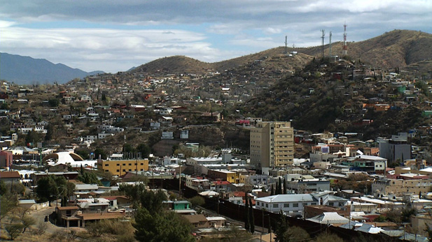 A view of Nogales, Ariz. and Nogales, Mexico.
