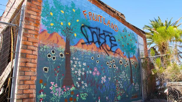 Fruitland Mural spotlight