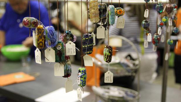 Beads sold at Metal Arts Village